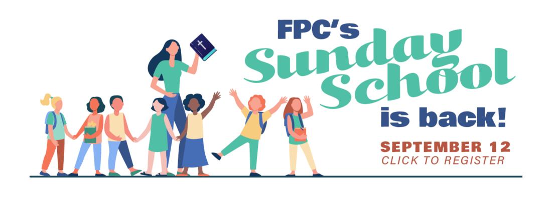 Sunday School-banner